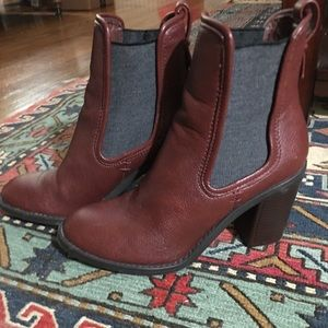 Merona Red-Brown Heeled Bootie